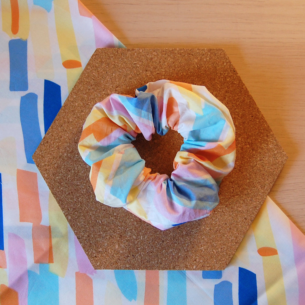 Retro Strokes Hair Scrunchie