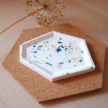 Load image into Gallery viewer, White Terrazzo Angular Tray #2
