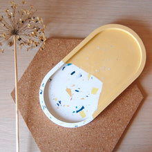 Load image into Gallery viewer, Yellow & Terrazzo Oval Tray