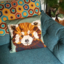 Load image into Gallery viewer, Red Panda Cushion Cover