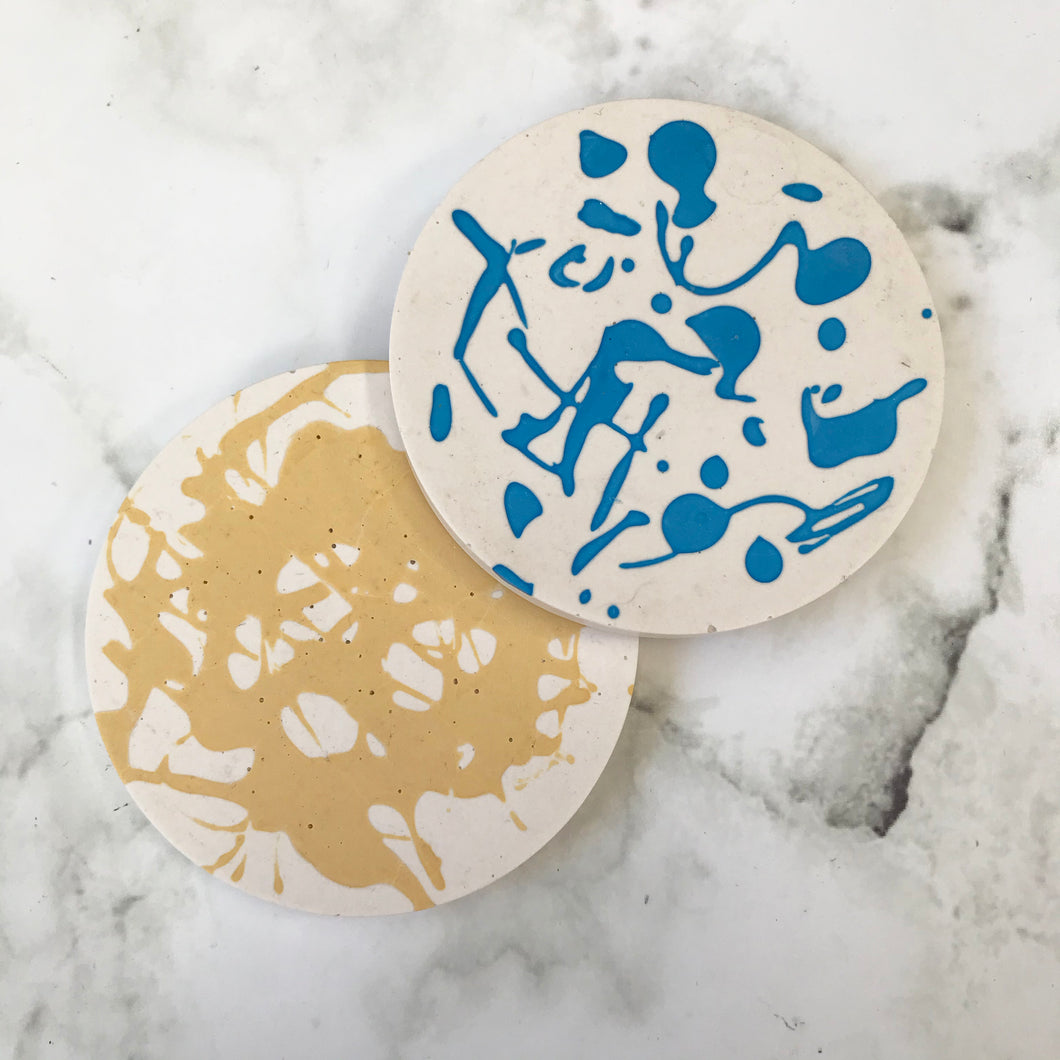 Coasters - Yellow & Blue