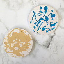 Load image into Gallery viewer, Coasters - Yellow & Blue