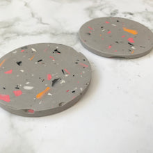 Load image into Gallery viewer, Coasters - Grey Terrazzo #1