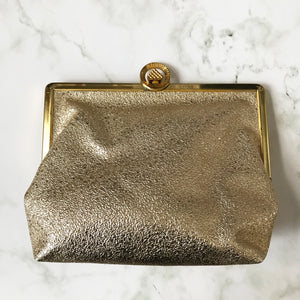Gold Faux Leather Purse