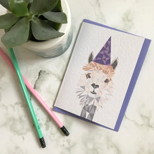 Party Alpaca Card