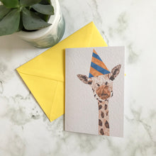 Load image into Gallery viewer, Party Giraffe Card
