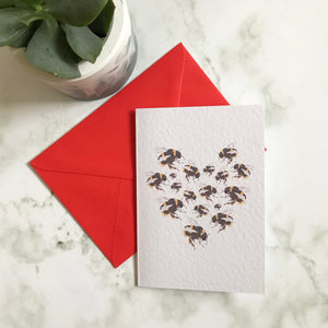 Bees Heart Card