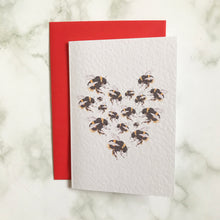 Load image into Gallery viewer, Bees Heart Card