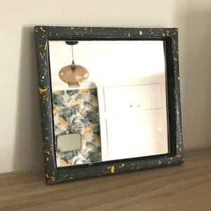 Black Jesmonite Mirror
