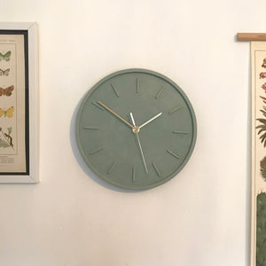 Sage Green Wall Clock