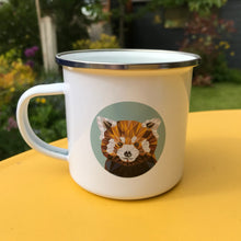 Load image into Gallery viewer, Red Panda Enamel Mug