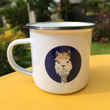 Load image into Gallery viewer, Alpaca Enamel Mug