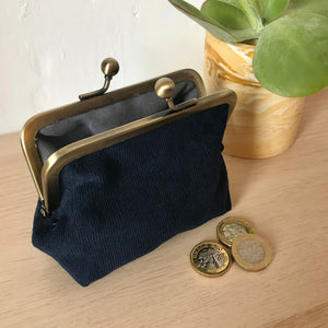 Navy Corduroy Purse