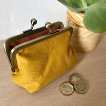 Load image into Gallery viewer, Mustard Corduroy Purse