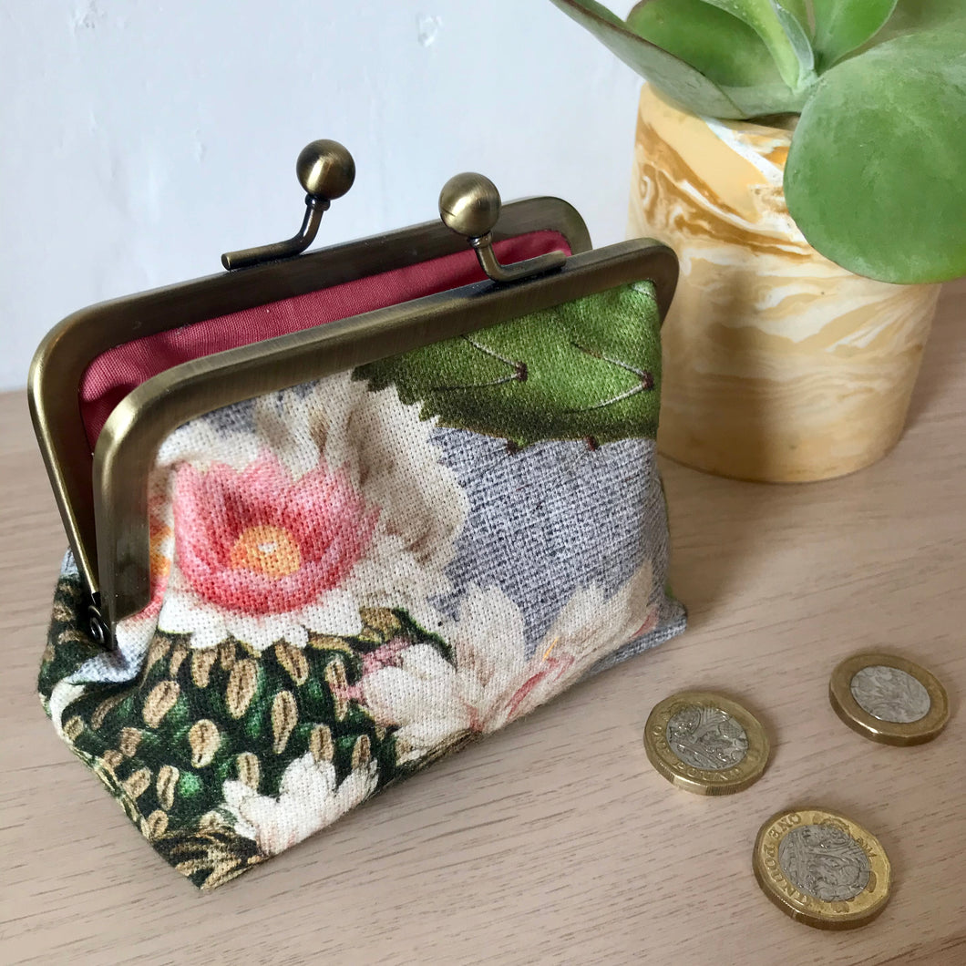 Cactus Metal Framed Purse