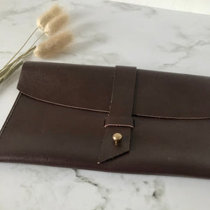 Chocolate Brown Leather Sleeve