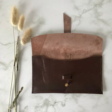 Load image into Gallery viewer, Chocolate Brown Leather Sleeve