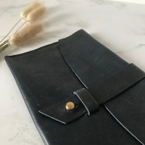 Dark Navy Leather Sleeve