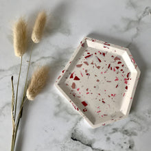 Load image into Gallery viewer, Pink Terrazzo Angular Tray