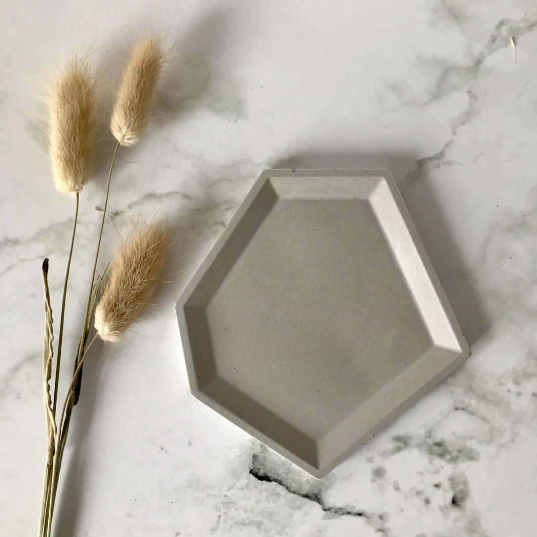Light Grey Angular Tray