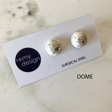 Load image into Gallery viewer, Jesmonite Metallic Earring Studs