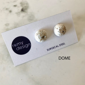 Jesmonite Metallic Earring Studs