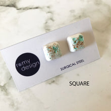 Load image into Gallery viewer, Jesmonite Turquoise Earring Studs