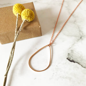 Copper Teardrop Necklace
