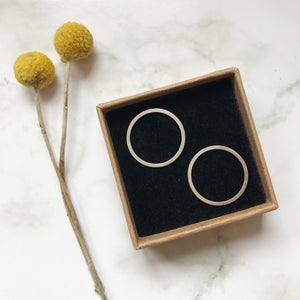 Silver Circle Earring Studs