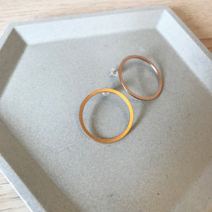 Copper Circle Earring Studs