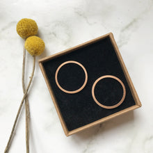 Load image into Gallery viewer, Copper Circle Earring Studs