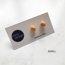 Load image into Gallery viewer, Jesmonite Mini Orange Earring Studs
