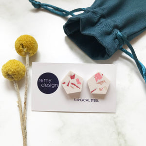Terrazzo Pink Earrings