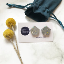 Load image into Gallery viewer, Terrazzo Grey Earrings