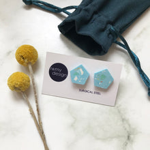 Load image into Gallery viewer, Terrazzo Blue No 2 Earrings