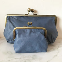 Load image into Gallery viewer, Blue Leather Clutch Bag