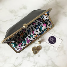 Load image into Gallery viewer, Light Grey Leather Clutch Bag