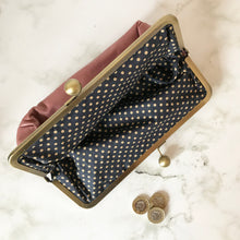 Load image into Gallery viewer, Blush Leather Clutch Bag
