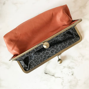 Lobster Leather Clutch Bag