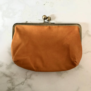Clementine Leather Clutch Bag