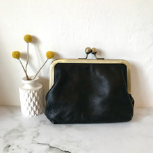 Load image into Gallery viewer, Black Leather Large Purse
