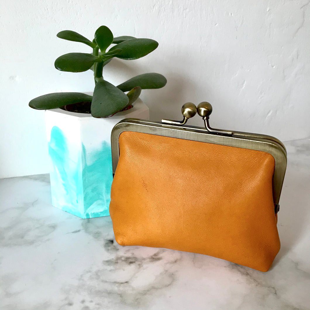 Clementine Leather Card Purse