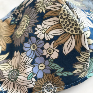 Retro Blue Floral Face Covering