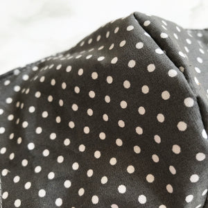 Grey Polka Dot Face Covering