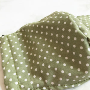 Green Polka Dot Face Covering