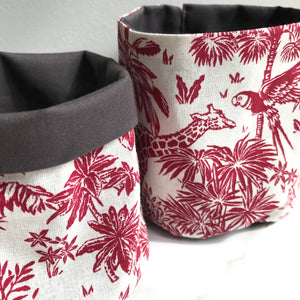 Red Fauna Pot Pouch