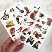 Load image into Gallery viewer, Animal & Bird Sticker Sheet