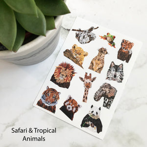 Animal & Bird Sticker Sheet