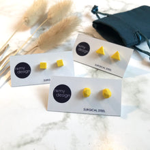 Load image into Gallery viewer, Jesmonite Mini Bright Yellow Earring Studs
