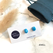 Load image into Gallery viewer, Jesmonite Mini Blue Earring Studs